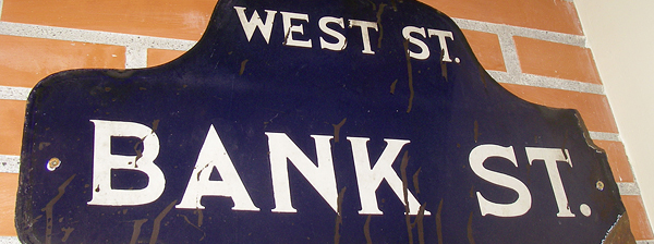 Bank Street. The Street I grew up on.